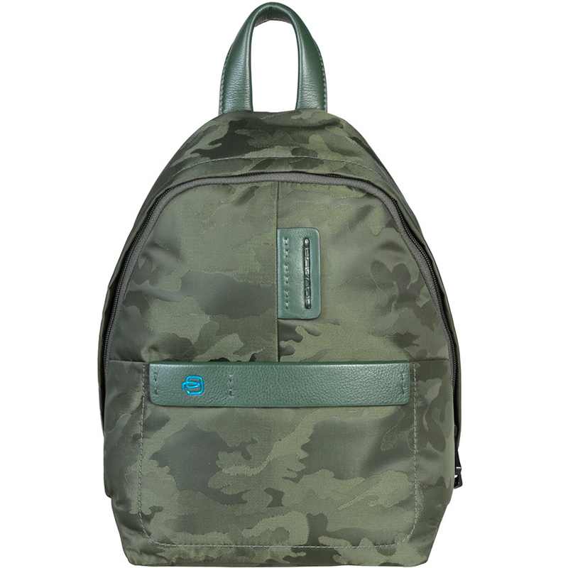 7ada11bc675a Buy Piquadro Green Camouflage Nylon Backpack 162384 at best price