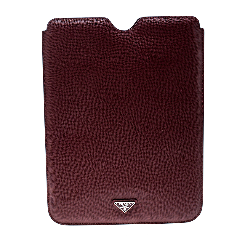 Купить со скидкой Prada Red Saffiano Leather iPad Case
