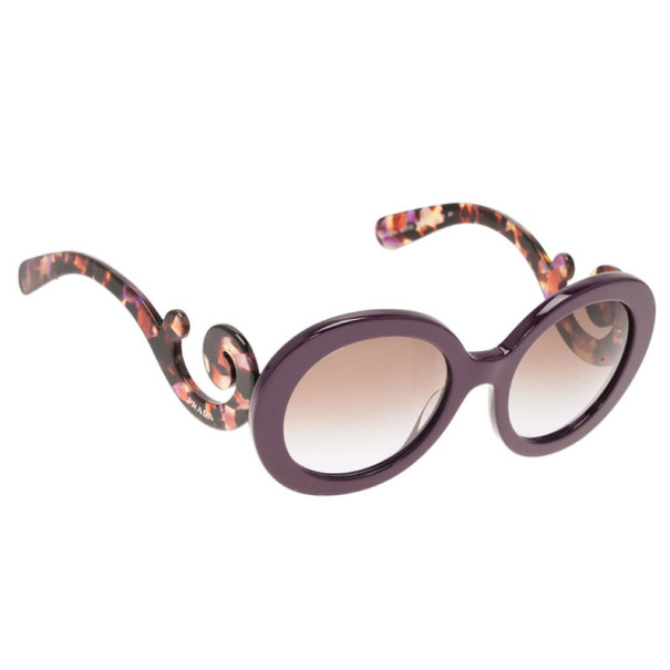 1aeaf6f6483e Buy Prada Purple Round Baroque Sunglasses 2649 at best price   TLC