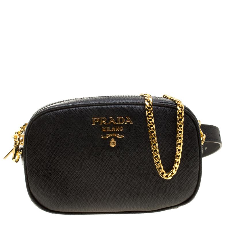 e49172c5df4a22 ... Prada Black Saffiano Lux Leather Marsupio Camera Crossbody Bag.  nextprev. prevnext
