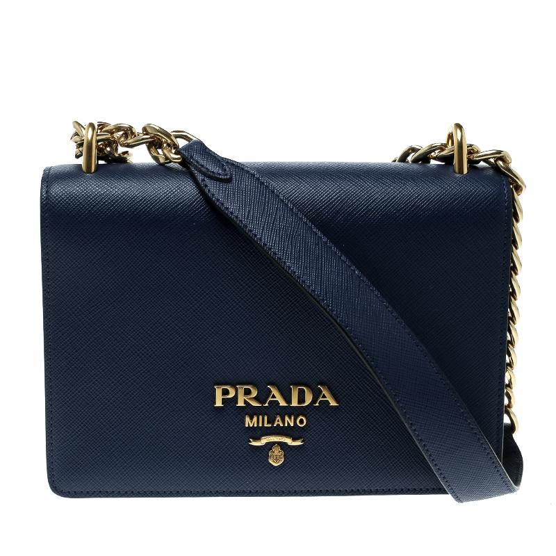 c4bfd7a69587 ... Prada Blue Saffiano Soft Cahier Leather Flap Crossbody Bag. nextprev.  prevnext