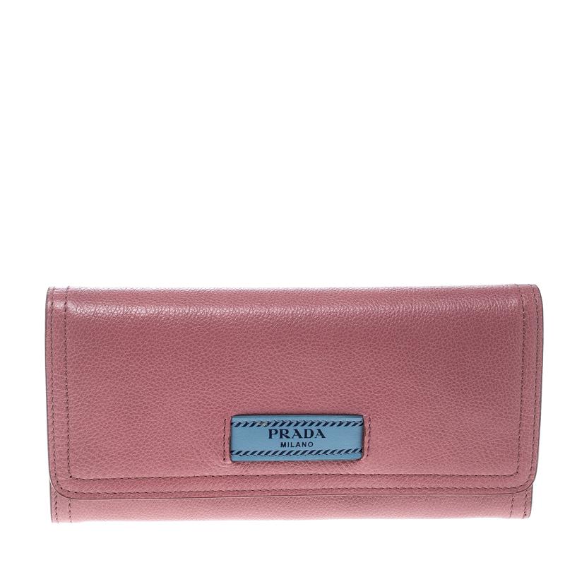 f525524178c1b6 ... Prada Pink Leather Etiquette Continental Wallet. nextprev. prevnext