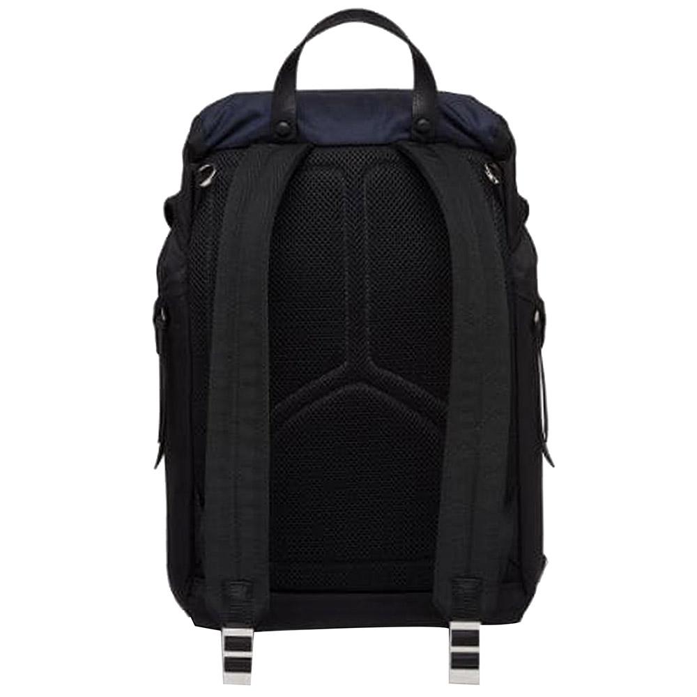 Prada Blue/Dark Blue Nylon Tessuto Camouflage Backpack