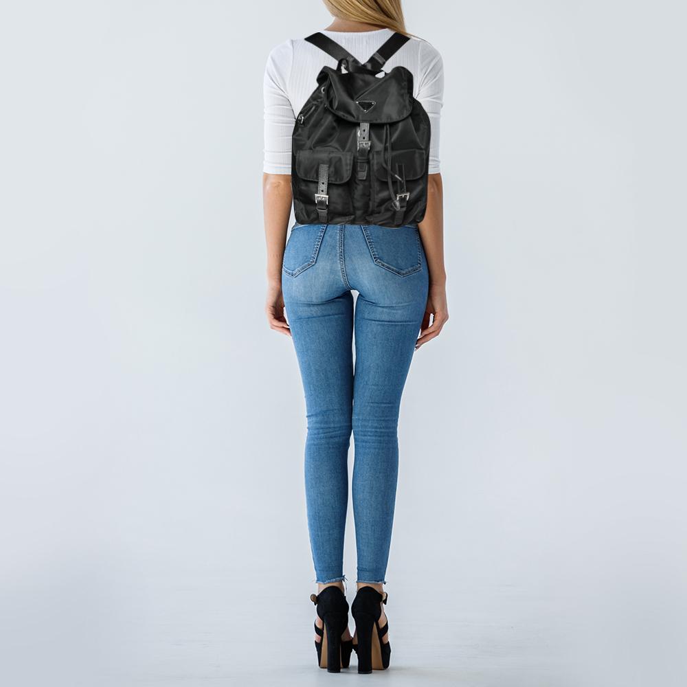 Prada Black Nappa Nylon Backpack