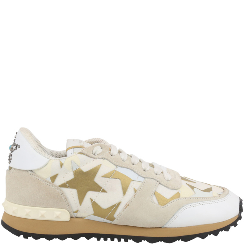 0889d10495 Prada Multicolor Suede and Fabric Starstudded Sneakers Size 38.5
