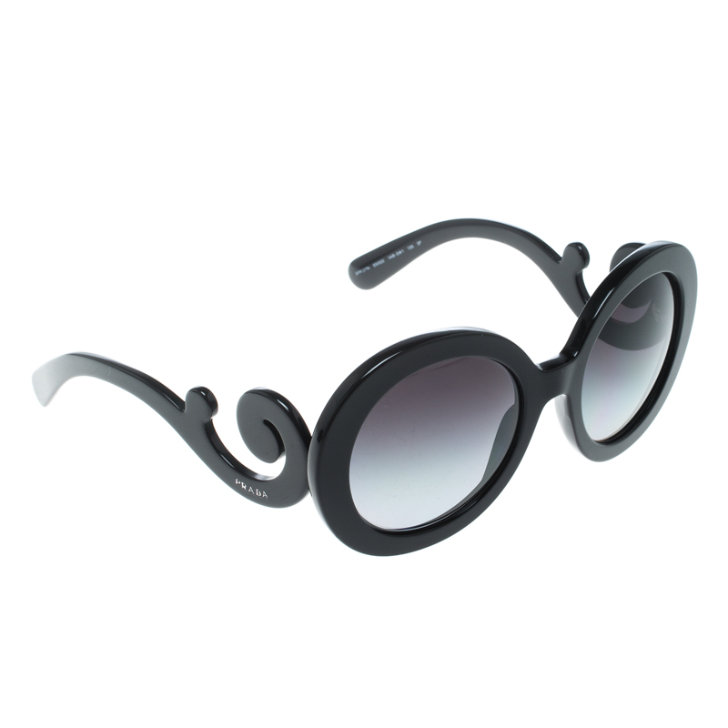 231c674ae4b ... Prada Black Black Gradient SPR27N Baroque Round Sunglasses. nextprev.  prevnext