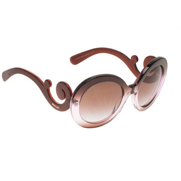 eb19fcbf16ca3 Buy Prada Purple Round Baroque Sunglasses 7073 at best price