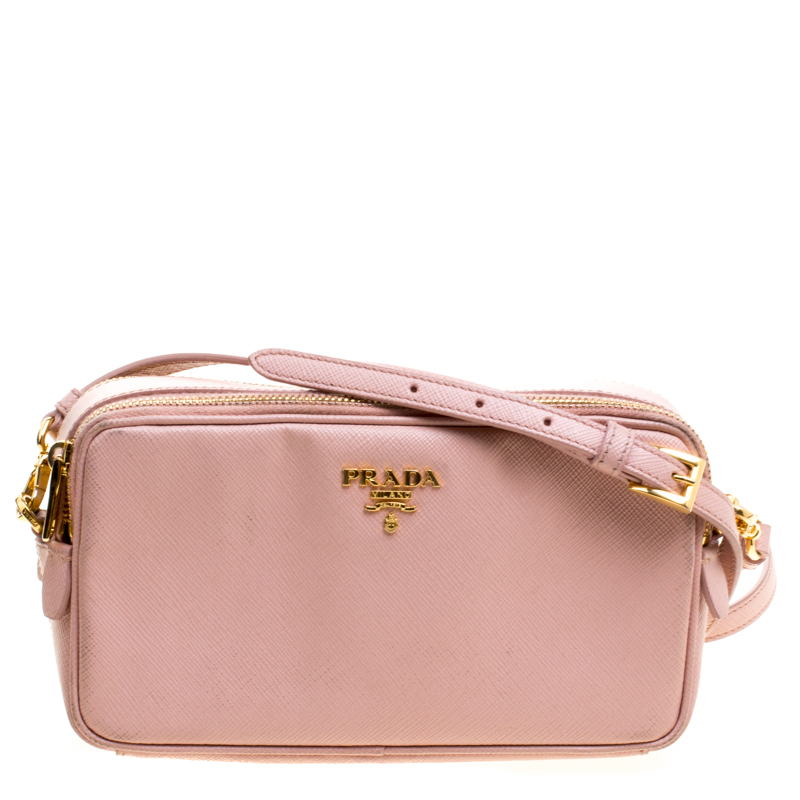 Buy Prada Pink Saffiano Leather Crossbody Bag 118598 at best price  3559017d1e901