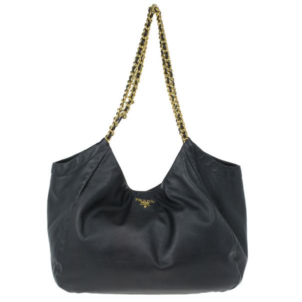 d6acacbf8406 ... Prada Black Soft Leather Baltico Shoulder Bag. nextprev. prevnext