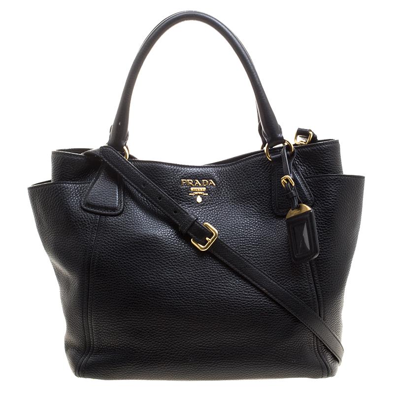 bbcbea979c2d ... Prada Black Vitello Daino Leather Shopper Tote. nextprev. prevnext