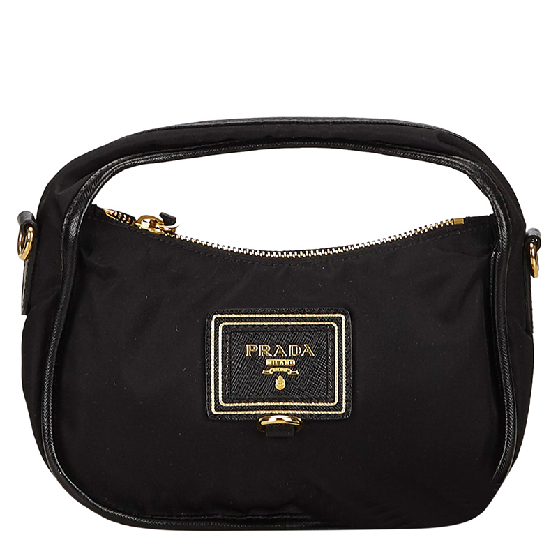 010063fc07 Buy Prada Black Tessuto Nylon Mini Shoulder Bag 129294 at best price ...