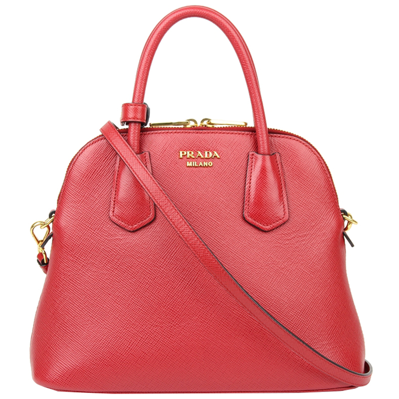 805a3fe990 Buy Prada Red Saffiano Leather Top Handle Bag 135250 at best price | TLC