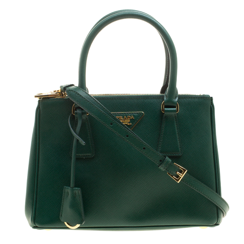 c38dc3667 ... coupon code prada green saffiano lux leather mini double zip tote.  nextprev. prevnext 7e9e6