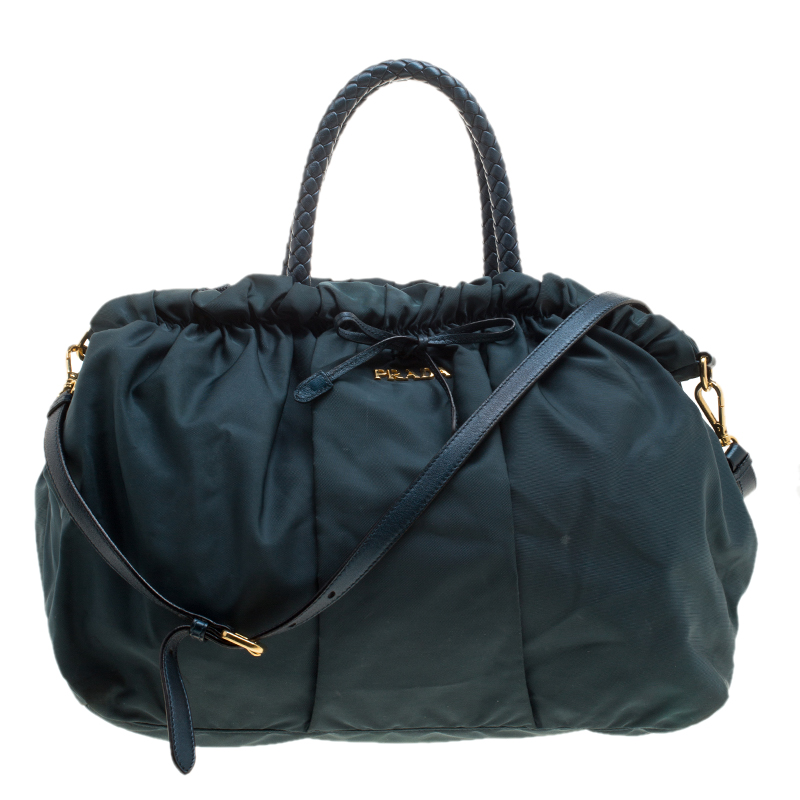 f0659ef08c Buy Prada Dark Blue Nylon Convertible Tote 137683 at best price