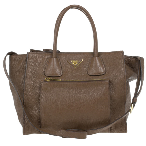 efbd4c46be56 ... Prada Brown Palissandro Vitello Daino Leather Top Handle Bag. nextprev.  prevnext