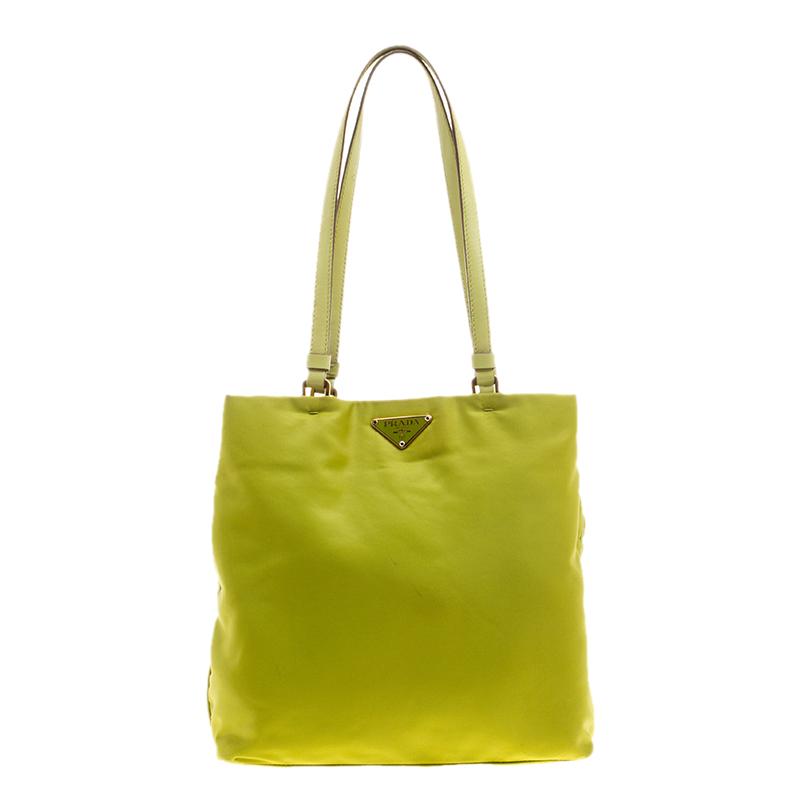334f83ccd3 Prada Lime Nylon Tote