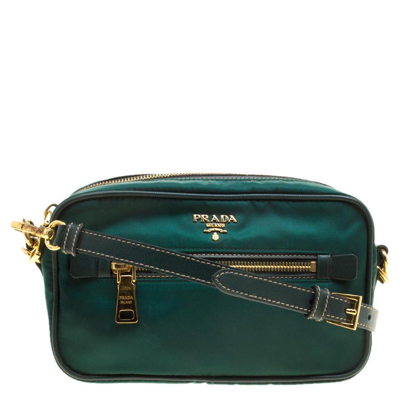 2240ee27ef91c3 ... Prada Green Tessuto Saffiano Camera Shoulder Bag. nextprev. prevnext