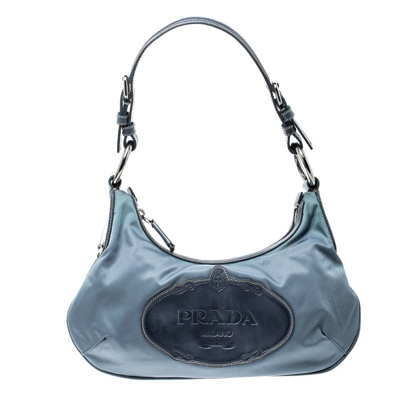 136b91b7275a Buy Prada Light Blue Nylon Shoulder Bag 142245 at best price