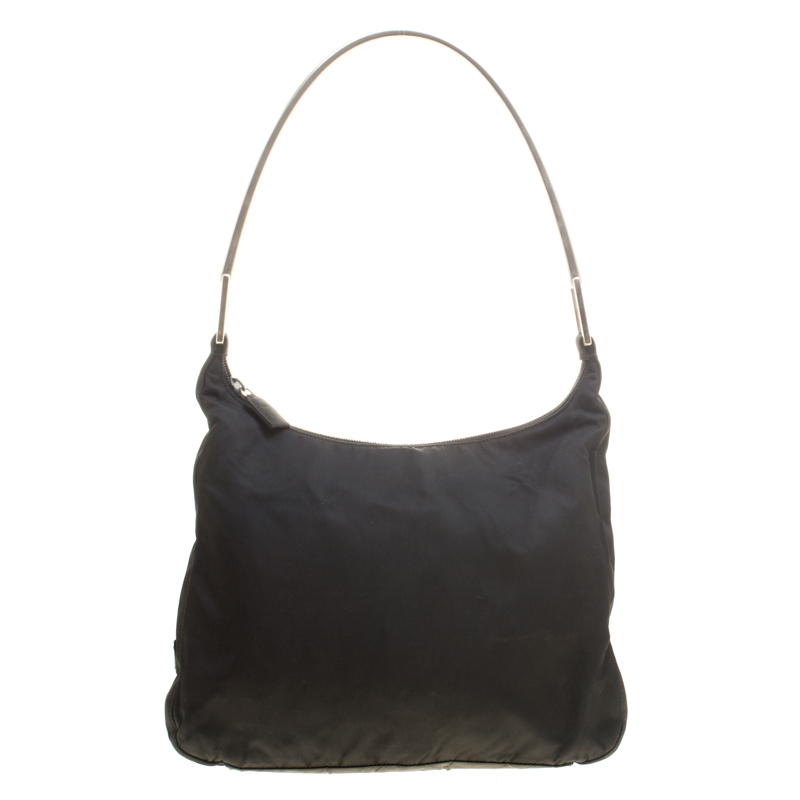 0e75a09e07 Buy Prada Black Nylon Shoulder Bag 146285 at best price