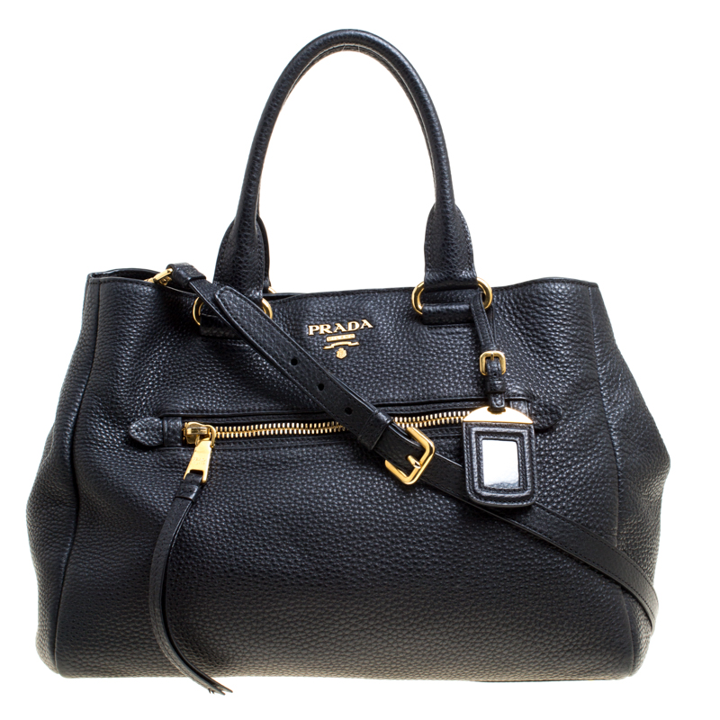 2ad61bedcf2e ... Prada Black Vitello Daino Leather Shopping Tote. nextprev. prevnext