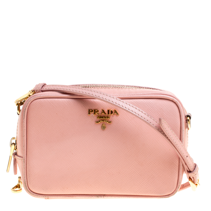Prada Pink Saffiano Lux Leather Camera