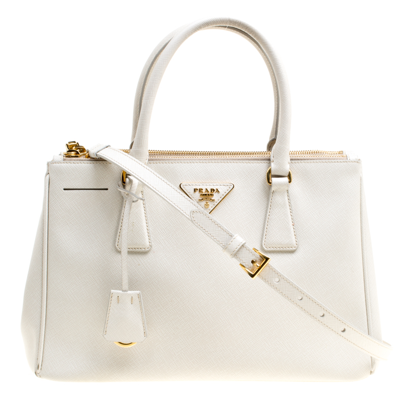 17b12232475582 ... promo code for prada white saffiano lux leather medium double zip tote.  nextprev. prevnext