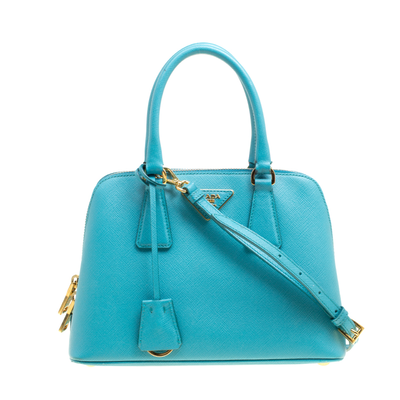 e031e6b31e4a ... Prada Turquoise Saffiano Lux Leather Small Promenade Crossbody Bag.  nextprev. prevnext