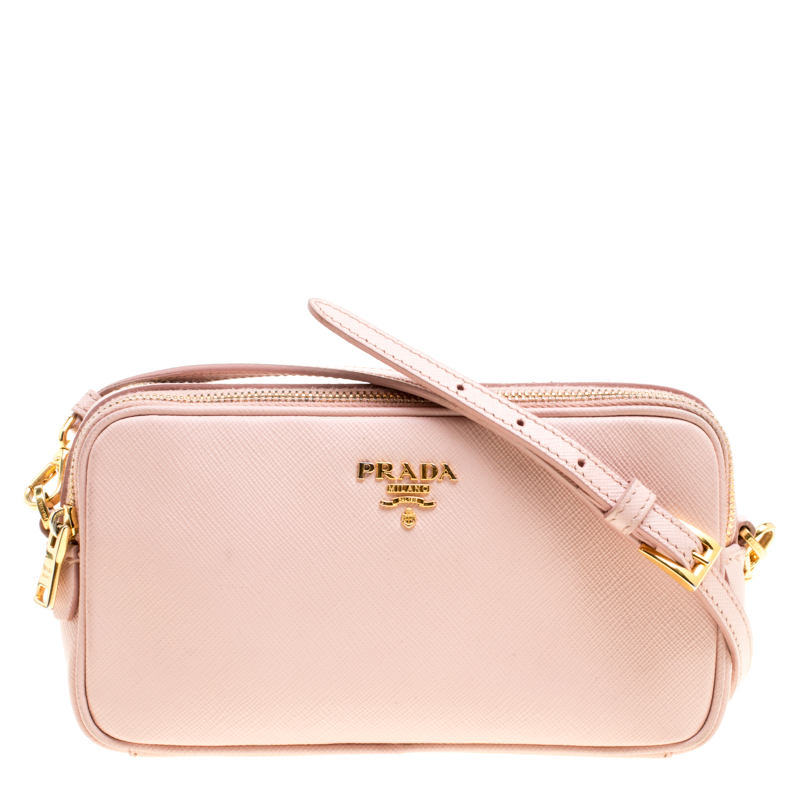 Prada Blush Pink Saffiano Lux Leather
