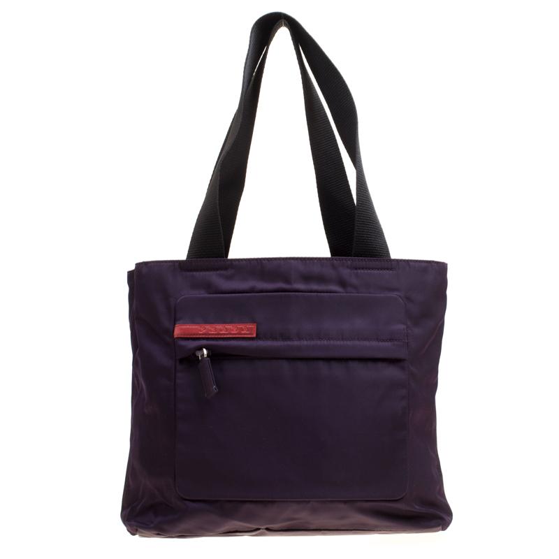 c28d130c145b Buy Prada Purple Nylon Tote 164628 at best price