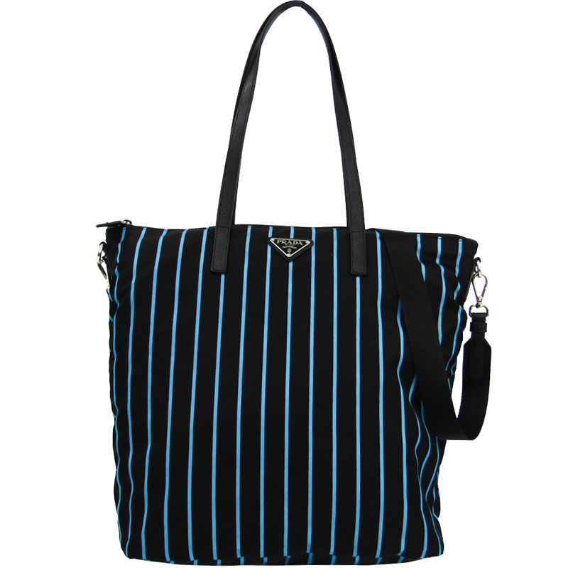1cac338984f8 Buy Prada Black Blue Tessuto Nylon Tote 168452 at best price