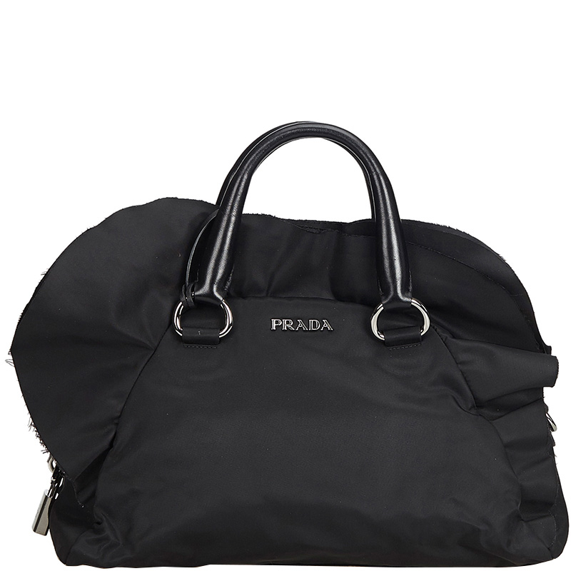 a8cfc4941177e1 Buy Prada Black Nylon Everyday Bag 170499 at best price   TLC