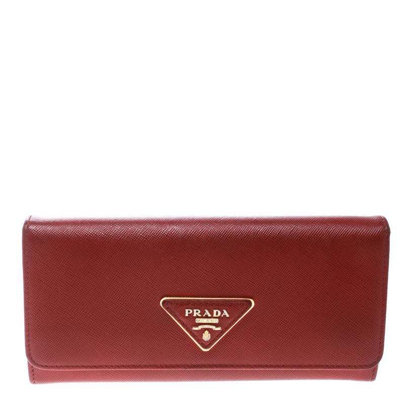 c5fb3f147cd883 ... Prada Red Saffiano Leather Continental Wallet. nextprev. prevnext