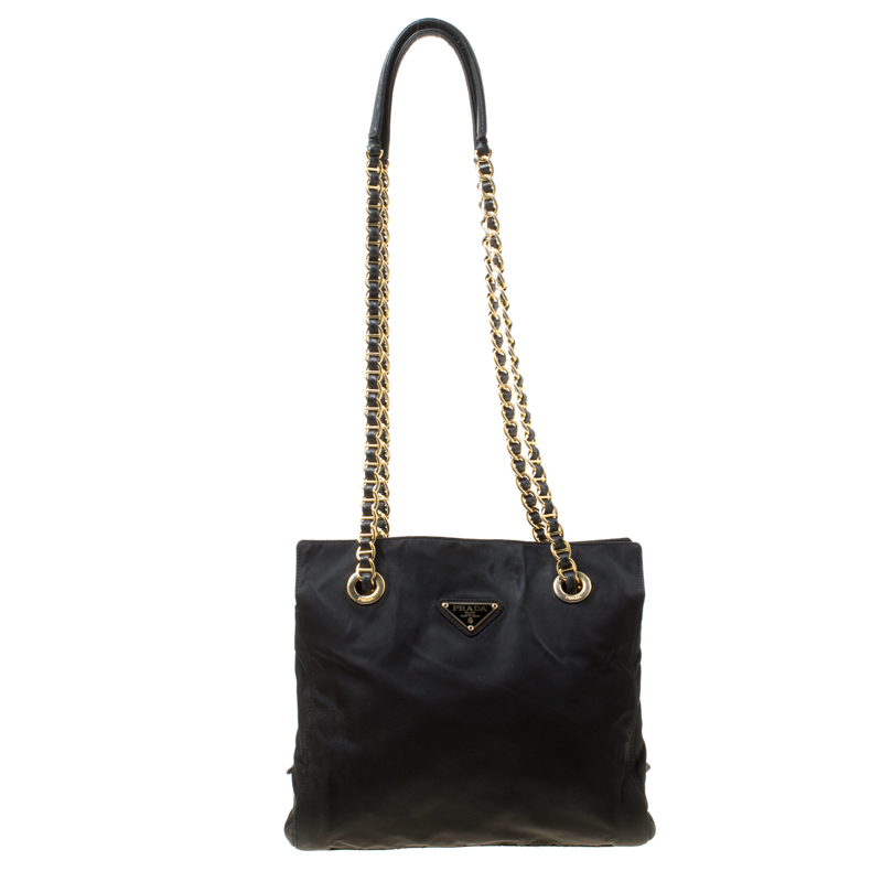 4f8d34ab686a Buy Prada Black Nylon Shoulder Bag 176822 at best price