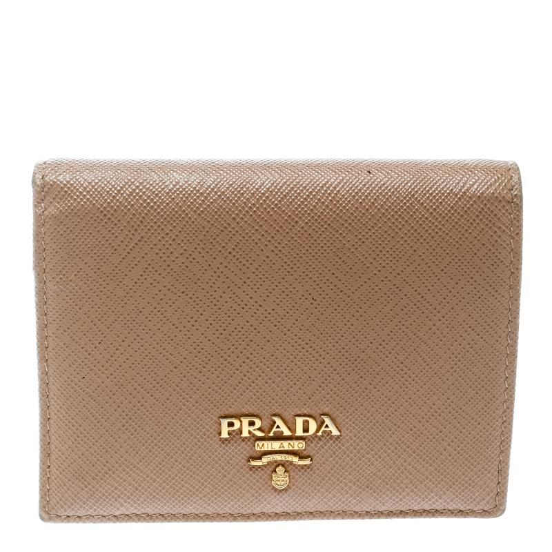 5bcfb1901a7c ... Prada Light Brown Saffiano Lux Leather Bifold Wallet. nextprev. prevnext