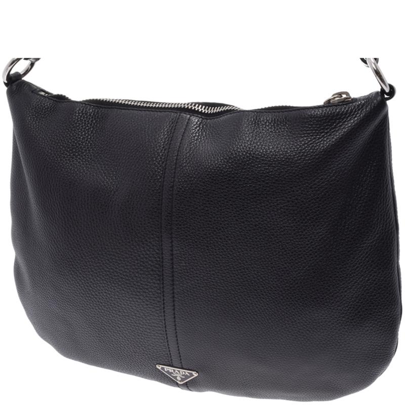 1a4c4f8b71f707 ... Prada Black Vitello Daino Leather Shoulder Bag. nextprev. prevnext
