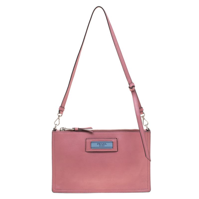 e096203719b4b5 ... Prada Pastel Pink Leather Contenitore Maniglia Shoulder Bag. nextprev.  prevnext