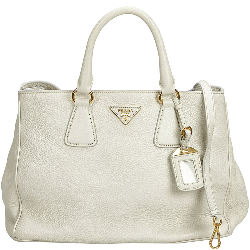 ded204b7114c Prada Handbags White Leather - Handbag Photos Eleventyone.Org