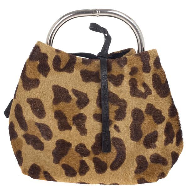 95ef84f818e406 Buy Prada Leopard Print Pony Hair Wristlet Evening Bag 18618 at best price  | TLC