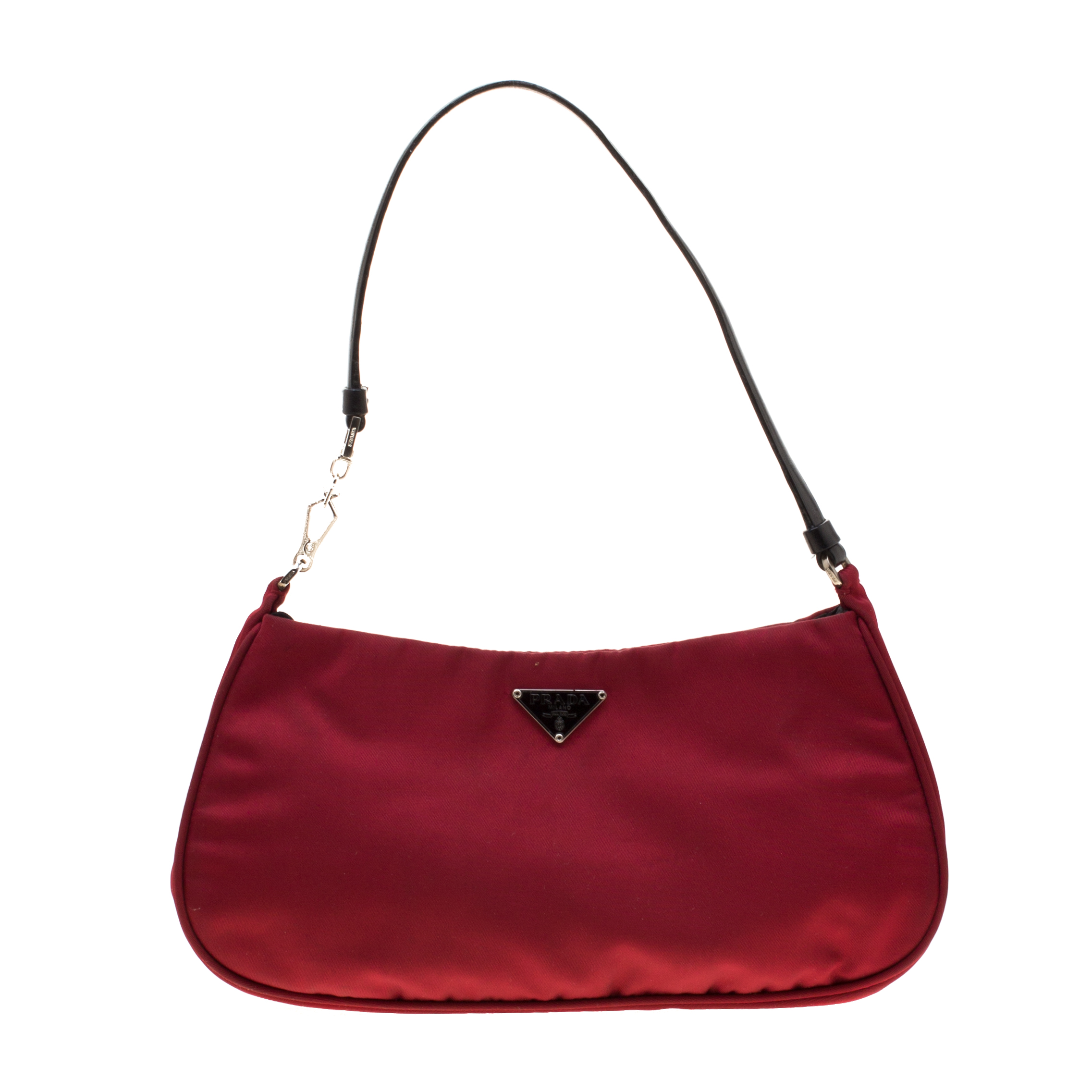 7893c3955b96 Buy Prada Red Nylon Shoulder Bag 186899 at best price | TLC