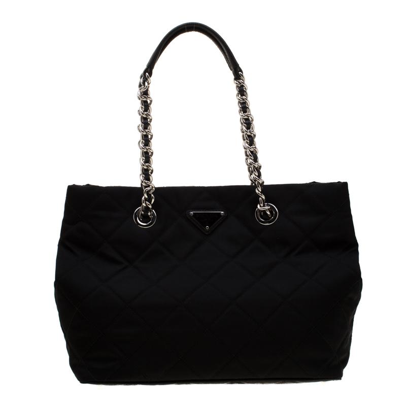 0e34dbe3ca3 Buy Prada Black Quilted Nylon Shoulder Bag 187205 at best price | TLC