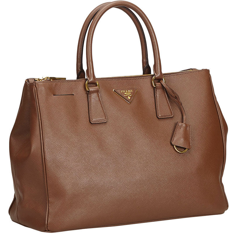 Prada Brown Saffiano Leather Galleria Everyday Bag