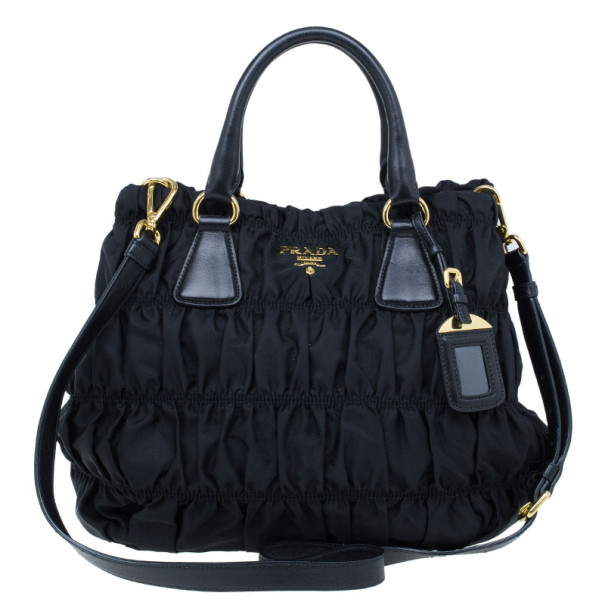 Buy Prada Black Tessuto Gaufre Nylon Tote Bag 21241 at best price  186896417743b