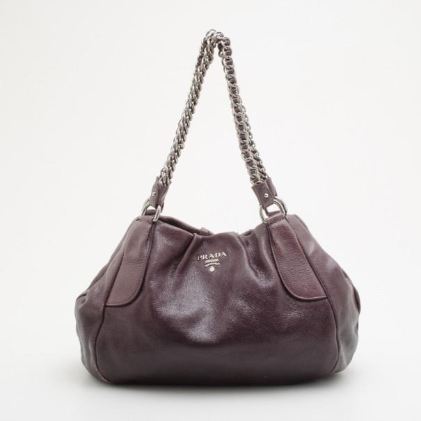 2e702db01e4e Buy Prada Smoke Ombré Glazed Deerskin Chain Bag 35043 at best price ...