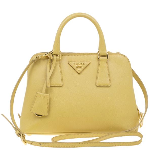 46e16d7186b6 Buy Prada Yellow Small Saffiano Promenade Bag 4261 at best price