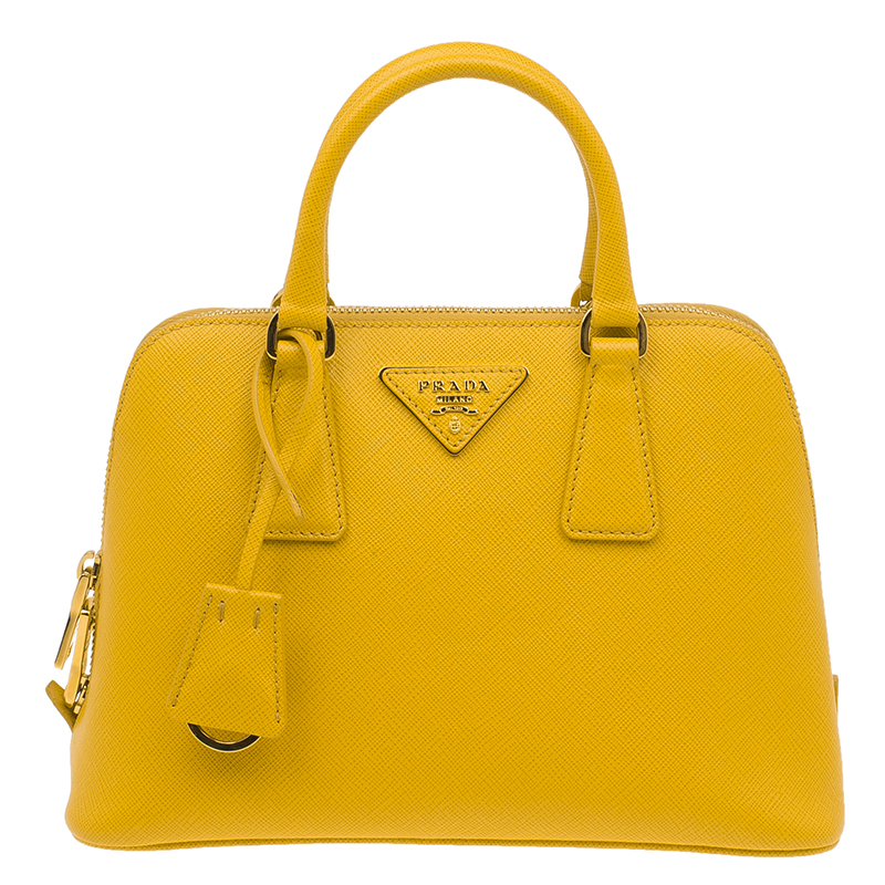 a8410c3c7bc3 ... Prada Yellow Saffiano Leather Small Vernice Promenade Crossbody Bag.  nextprev. prevnext