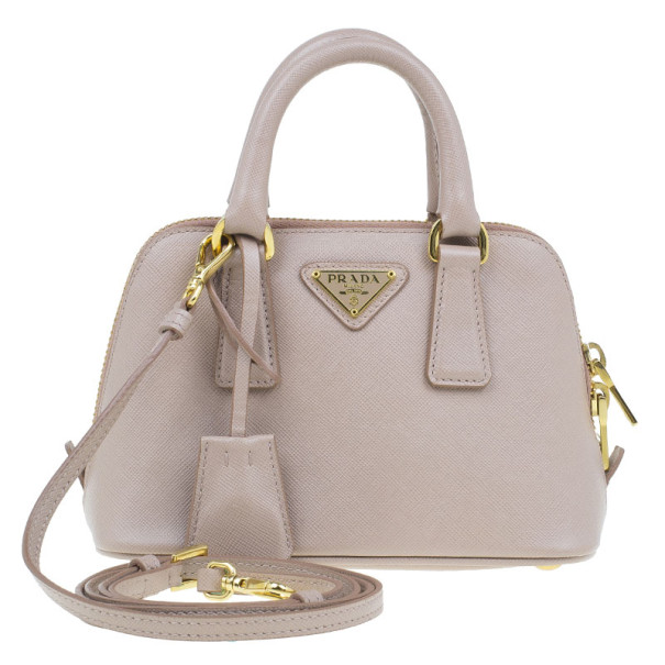 fe9971bed284 ... Prada Saffiano Blush Vernice Mini Promenade Bag. nextprev. prevnext