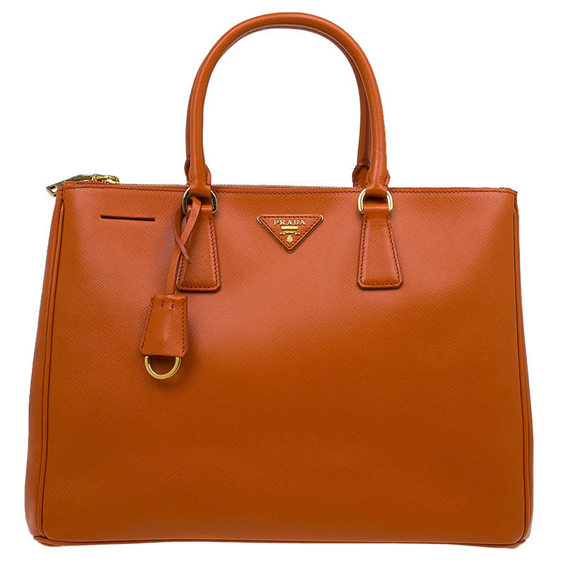 ... Prada Papaya Saffiano Lux Leather Large Double Zip Tote Bag. nextprev.  prevnext 6e4a94f2803c6