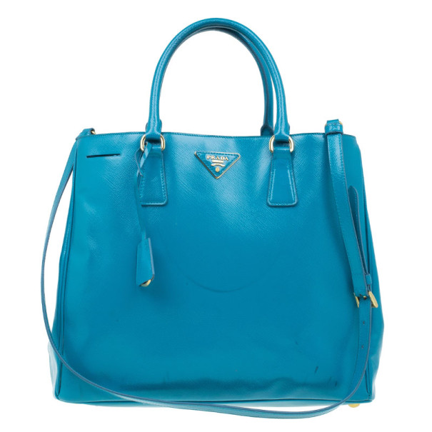 ecabc88a889d Buy Prada Turquoise Patent Shopping Tote 4749 at best price | TLC