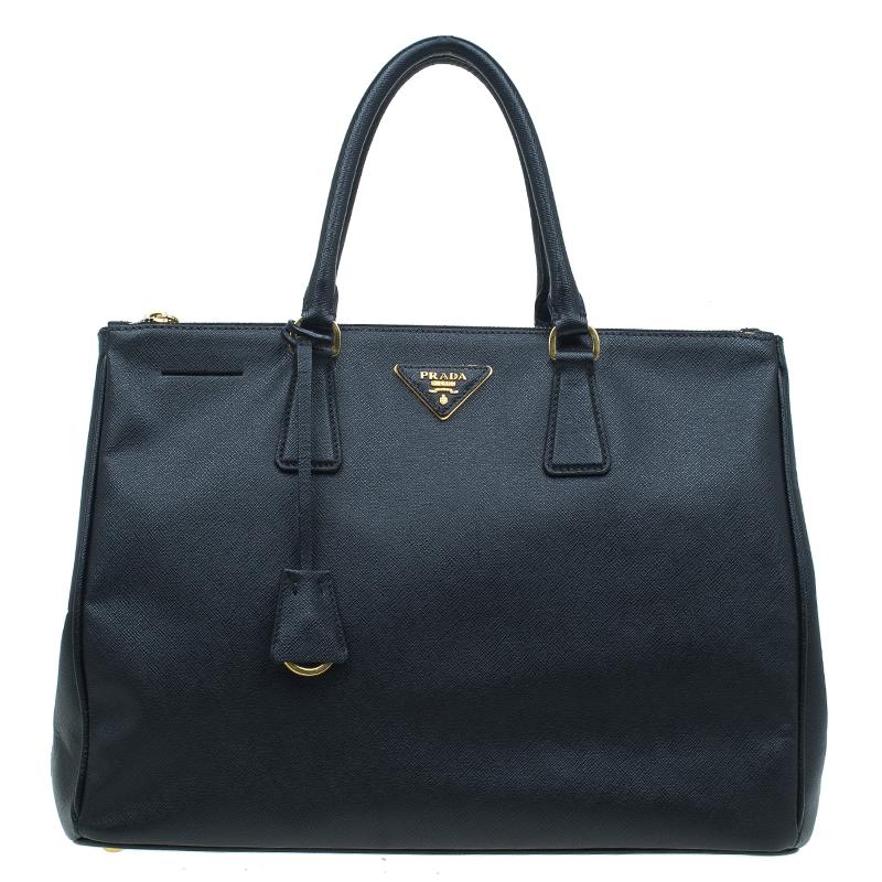 e33d9032040e ... Prada Black Saffiano Lux Leather Large Double Zip Tote. nextprev.  prevnext