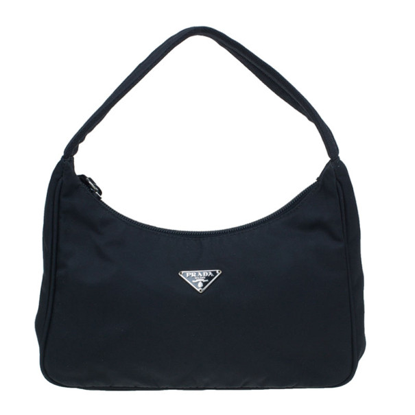 ee43b6f83375 Buy Prada Black Nylon Mini Tessuto Shoulder Bag 6602 at best price